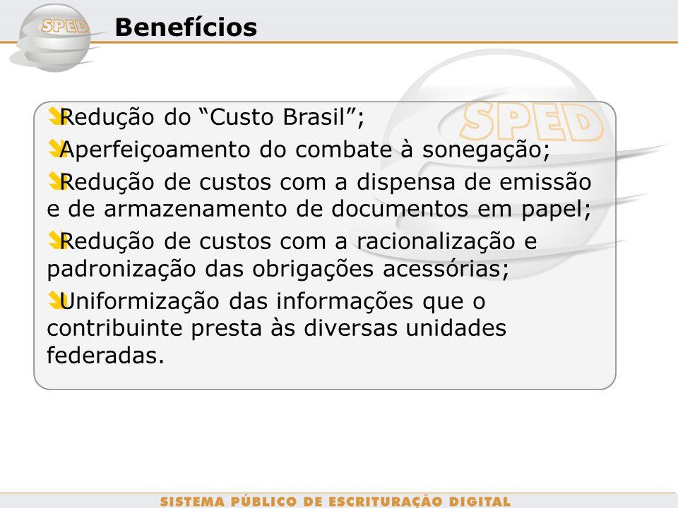 Benefícios Redução do Custo Brasil ;