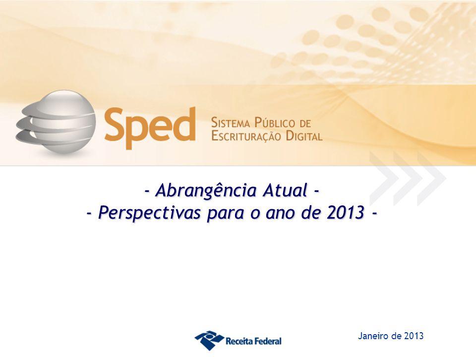 - Perspectivas para o ano de 2013 -