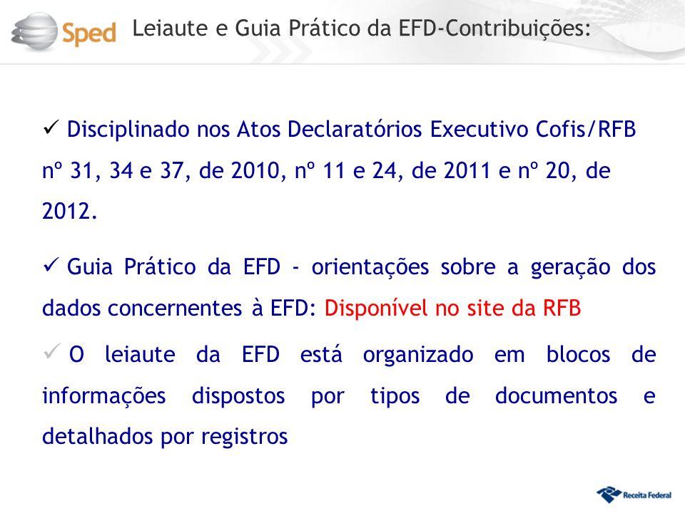 Leiaute e Guia Prático da EFD-Contribuições: