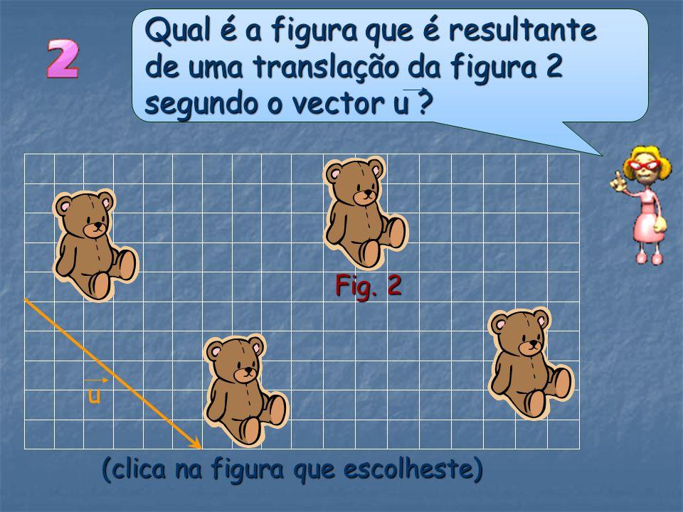 Qual é a figura que é resultante de uma translação da figura 2 segundo o vector u