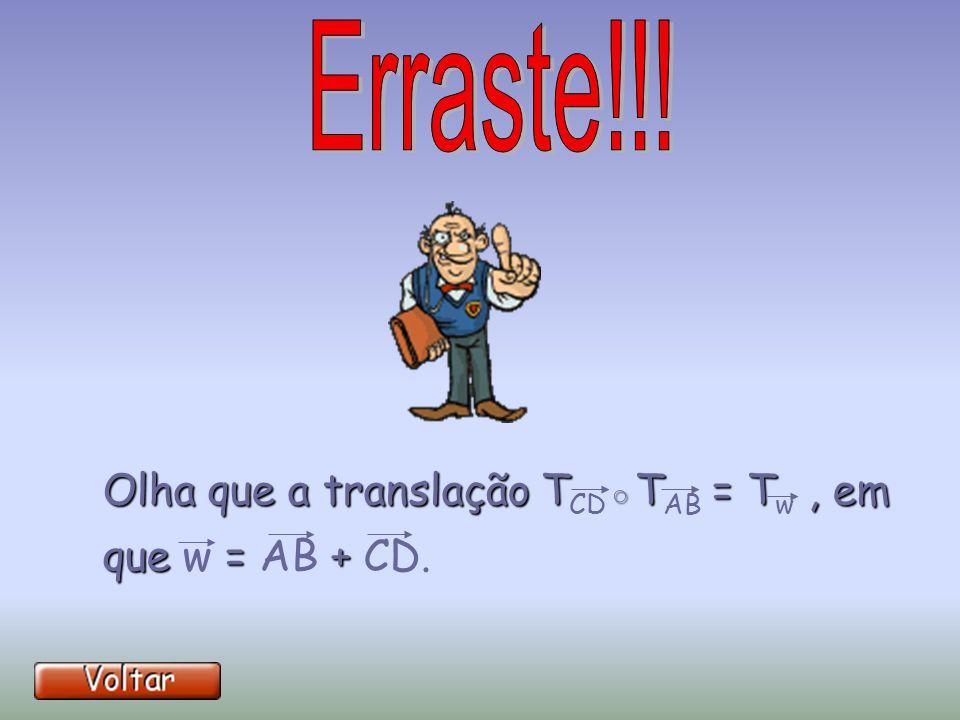 Olha que a translação TCD◦TAB = Tw , em que w = AB + CD.