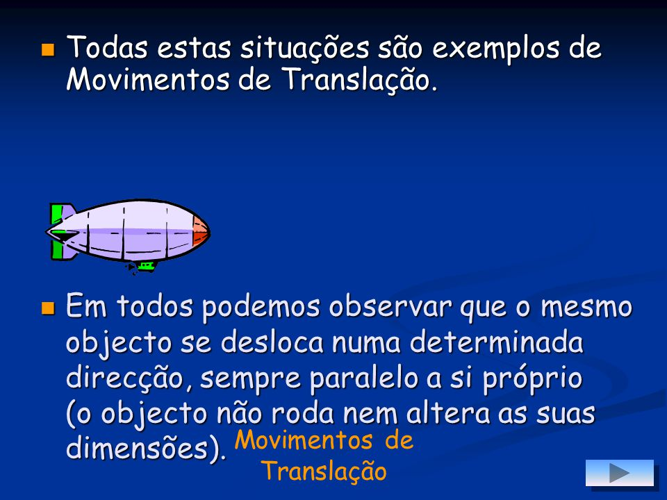 Movimentos de Translação
