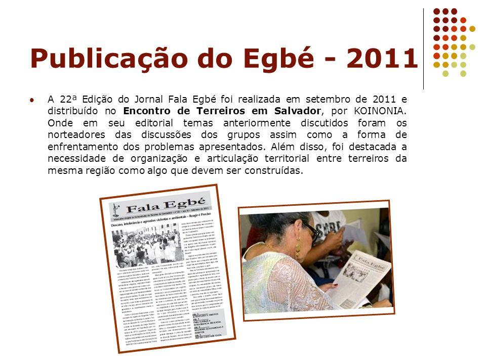 Publicação do Egbé - 2011