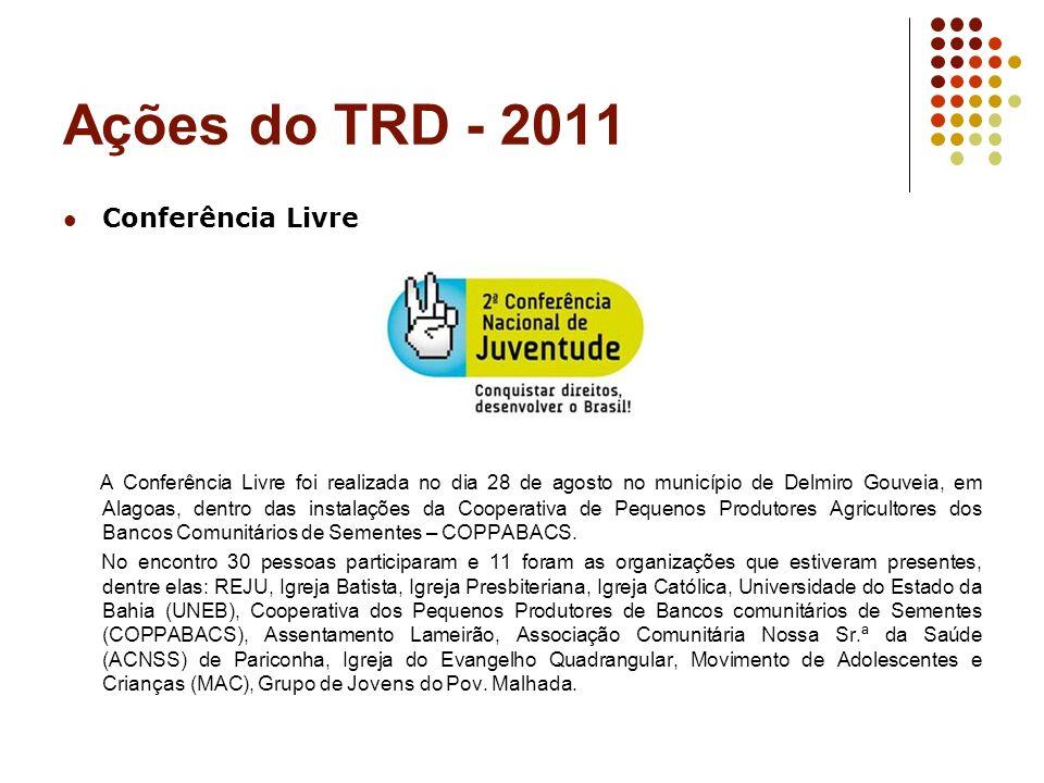Ações do TRD - 2011 Conferência Livre