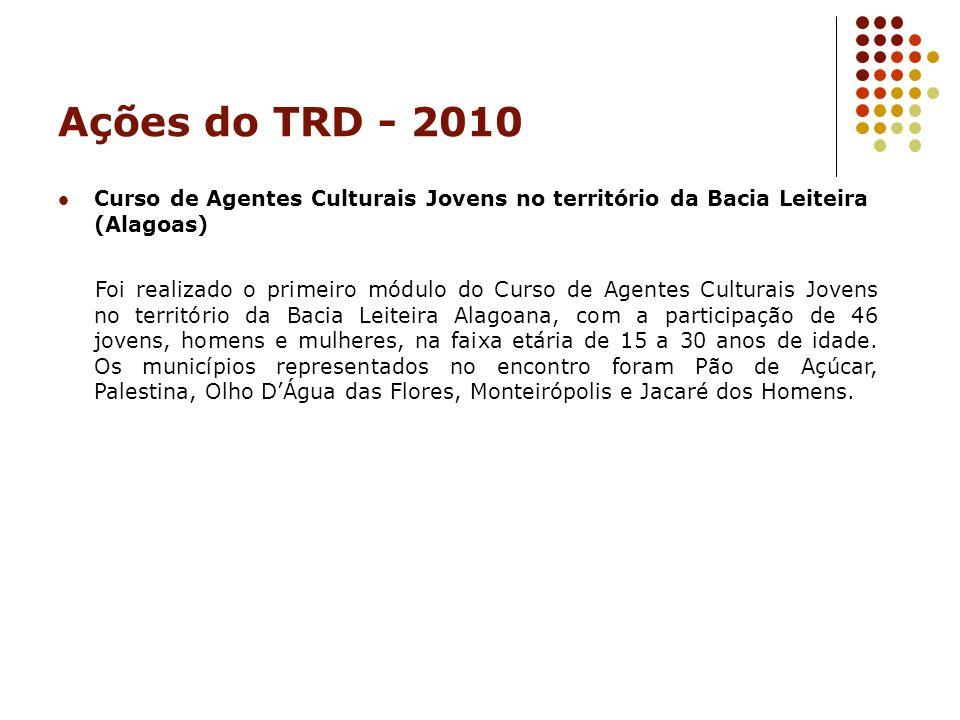 Ações do TRD - 2010 Curso de Agentes Culturais Jovens no território da Bacia Leiteira (Alagoas)