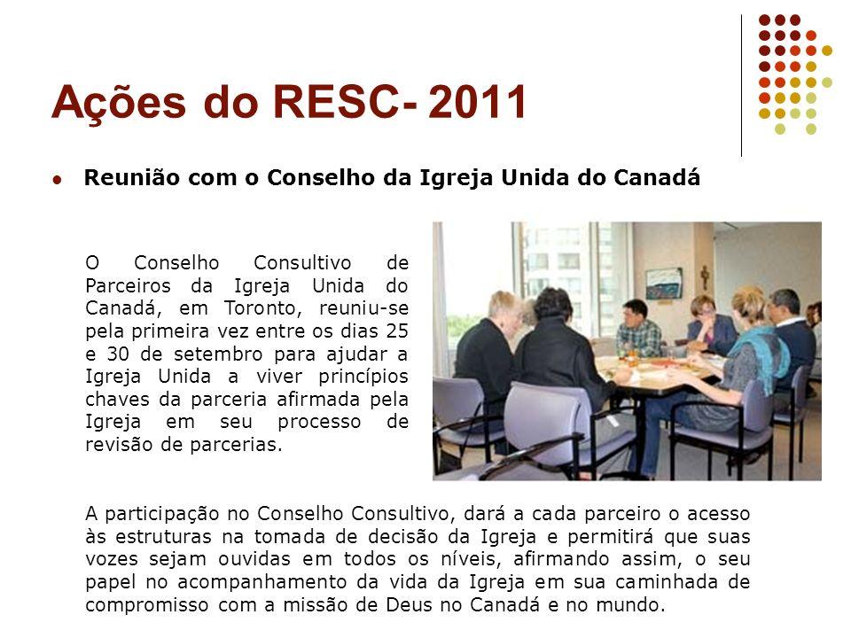 Ações do RESC- 2011 Reunião com o Conselho da Igreja Unida do Canadá
