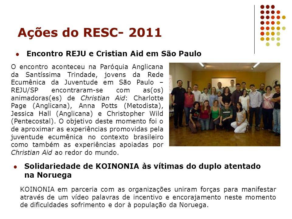 Ações do RESC- 2011 Encontro REJU e Cristian Aid em São Paulo