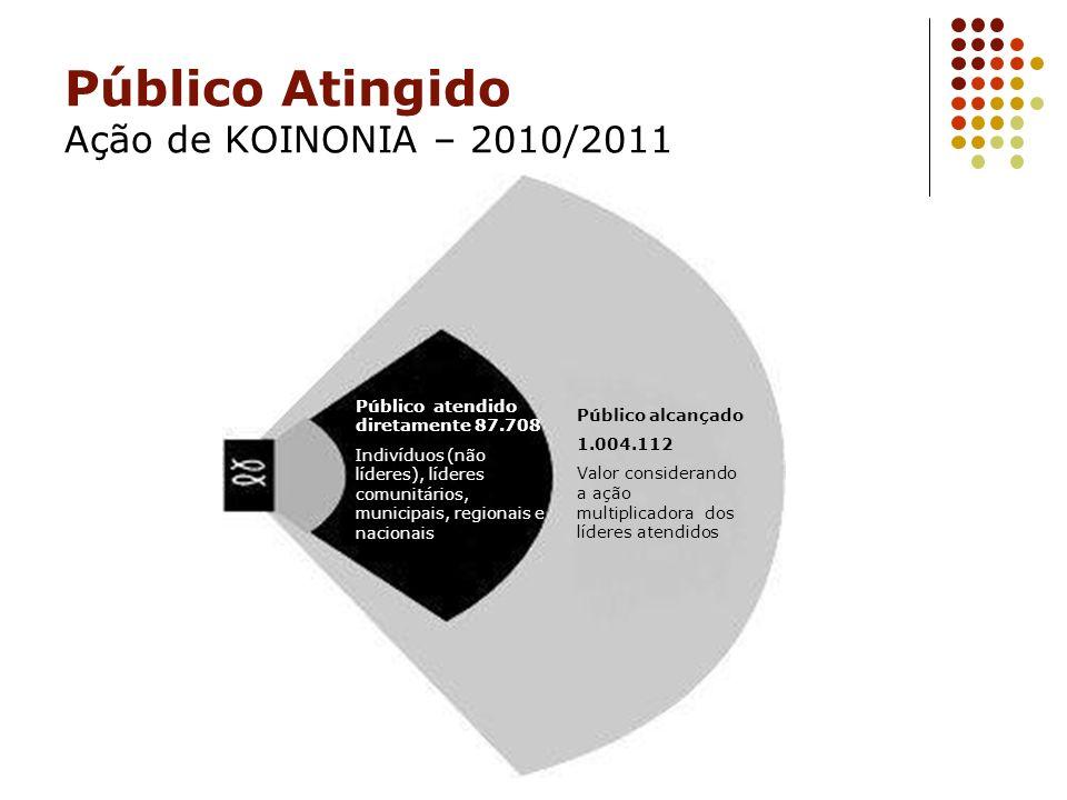 Público Atingido Ação de KOINONIA – 2010/2011