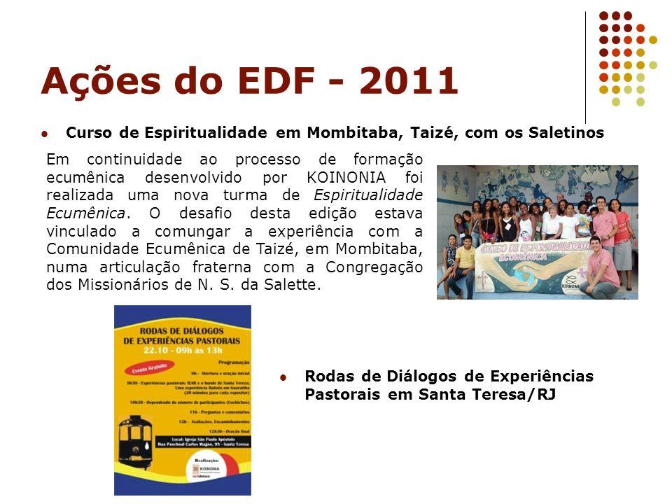 Ações do EDF - 2011 Curso de Espiritualidade em Mombitaba, Taizé, com os Saletinos.