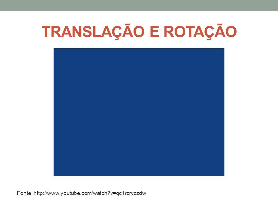TRANSLAÇÃO E ROTAÇÃO Fonte: http://www.youtube.com/watch v=qc1rzryczdw