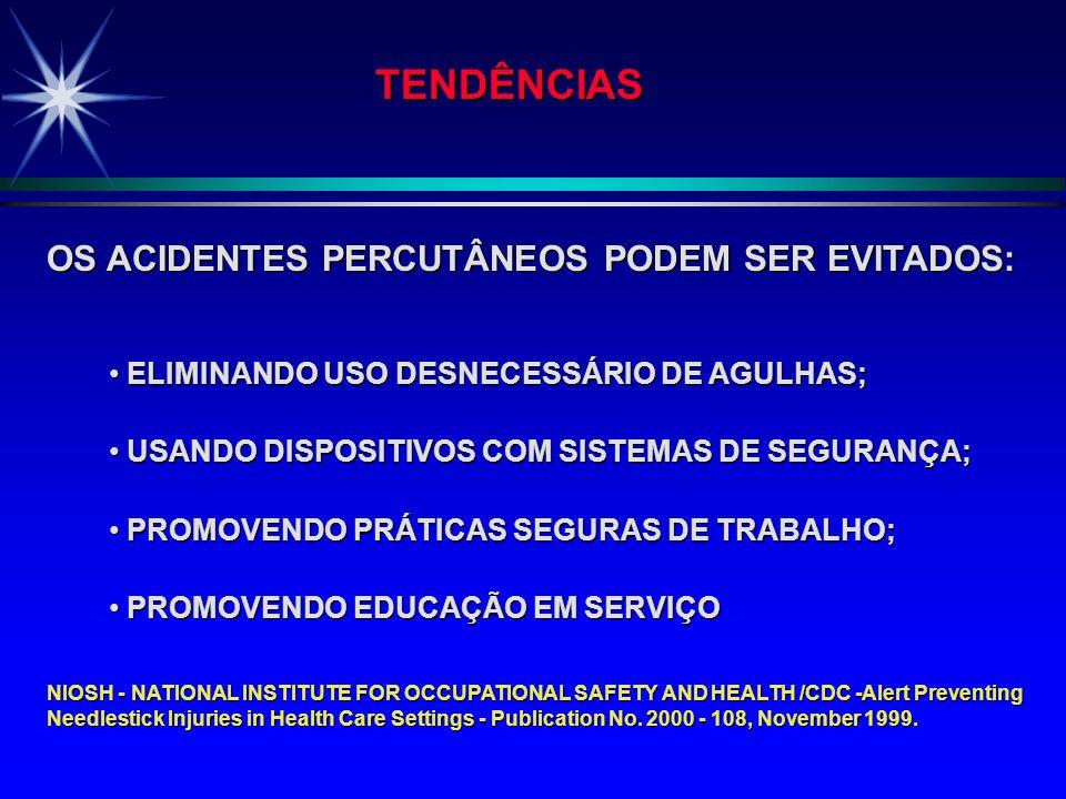 TENDÊNCIAS OS ACIDENTES PERCUTÂNEOS PODEM SER EVITADOS: