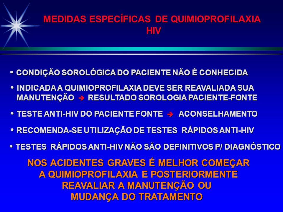 MEDIDAS ESPECÍFICAS DE QUIMIOPROFILAXIA HIV