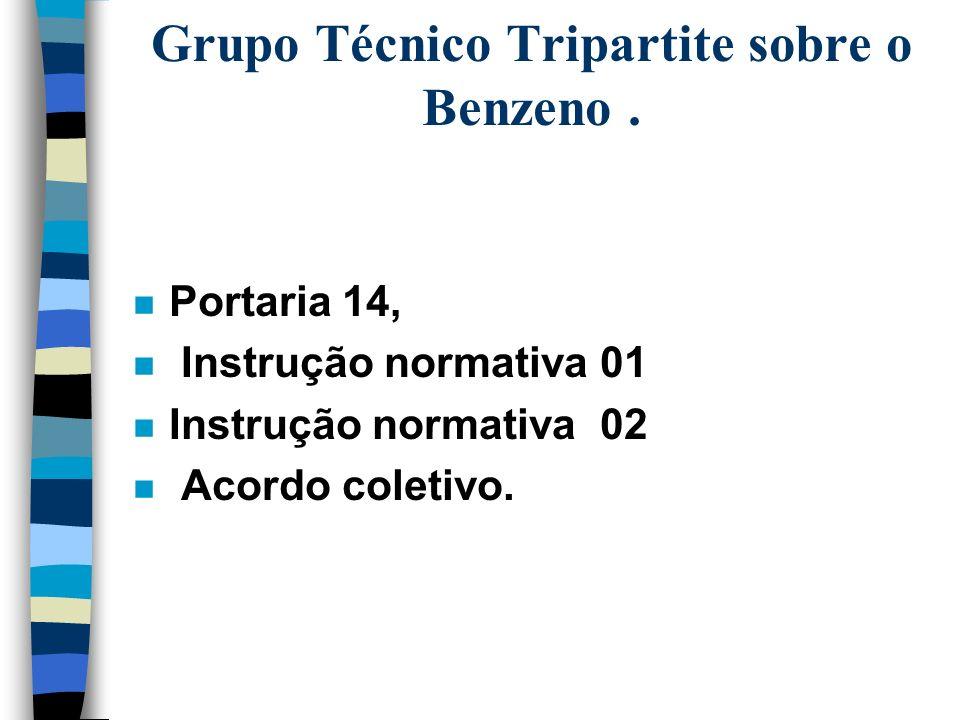 Grupo Técnico Tripartite sobre o Benzeno .
