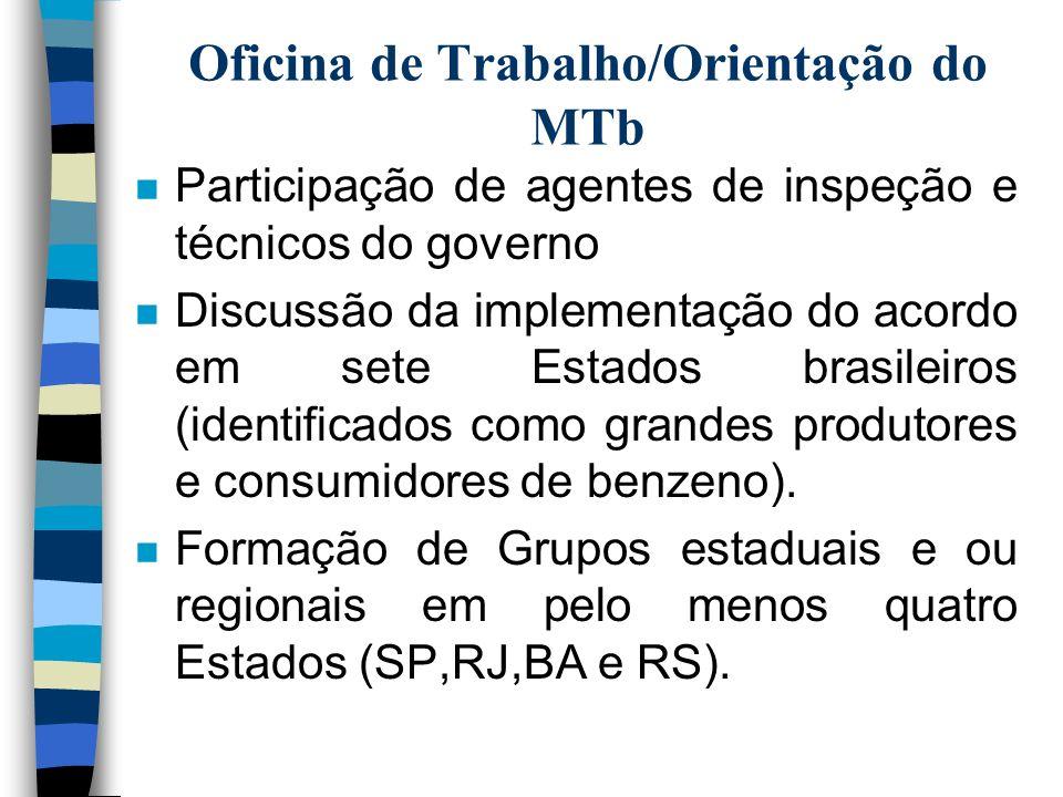 Oficina de Trabalho/Orientação do MTb