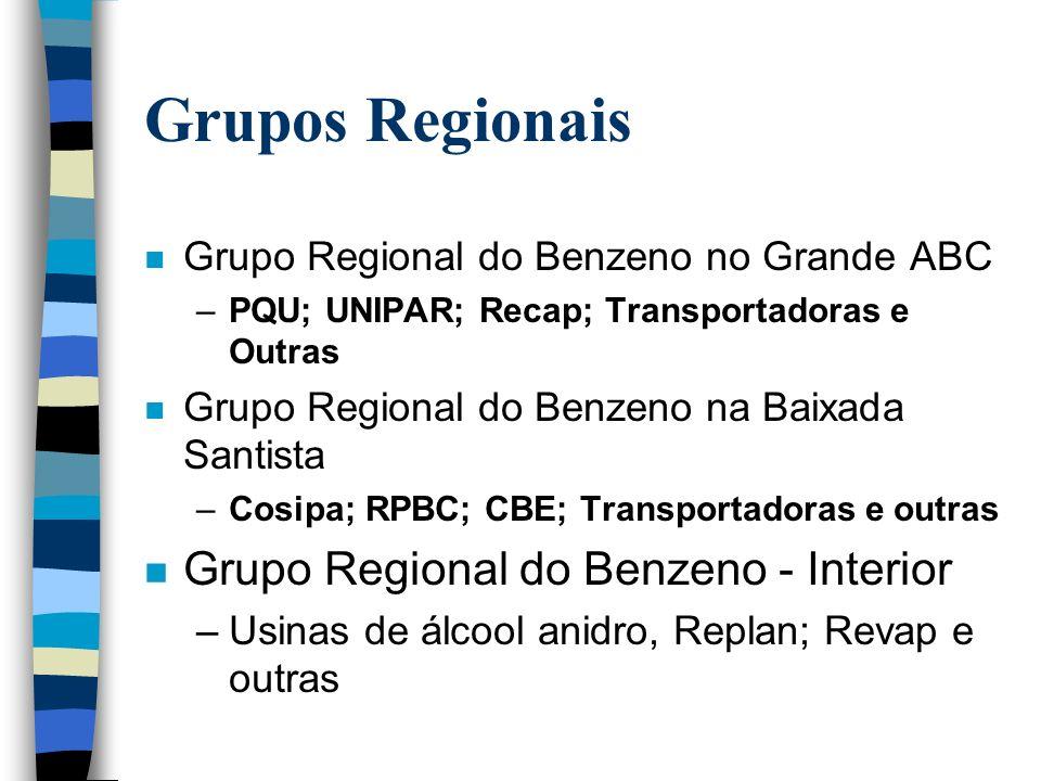 Grupos Regionais Grupo Regional do Benzeno - Interior
