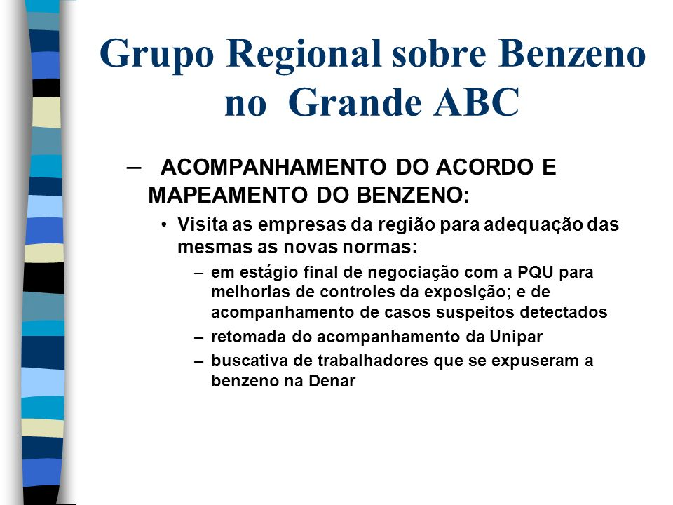 Grupo Regional sobre Benzeno no Grande ABC