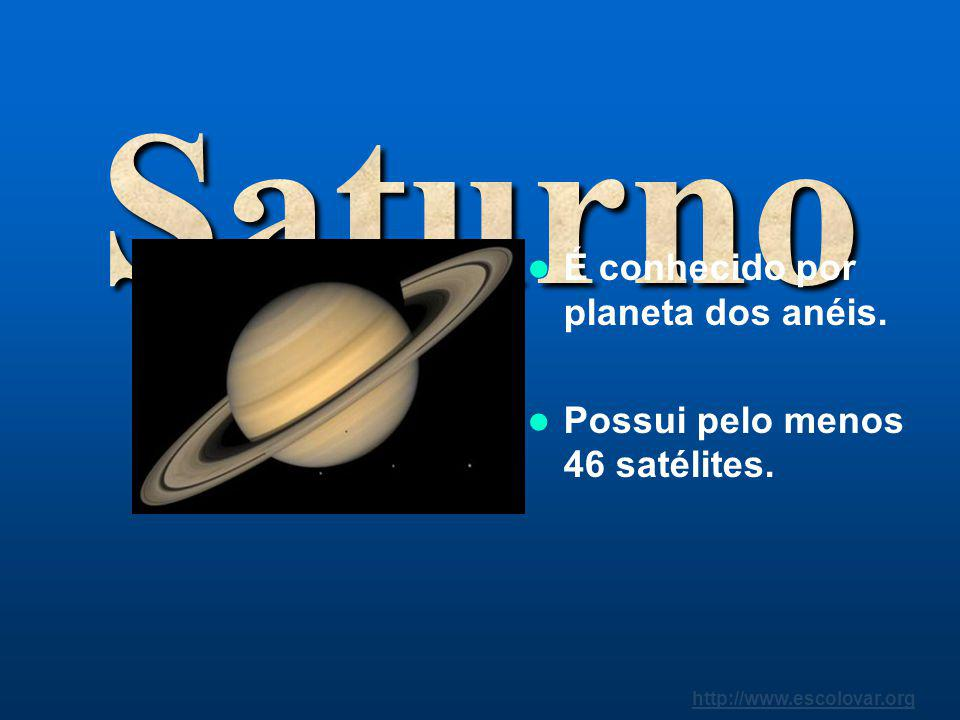 Saturno É conhecido por planeta dos anéis.
