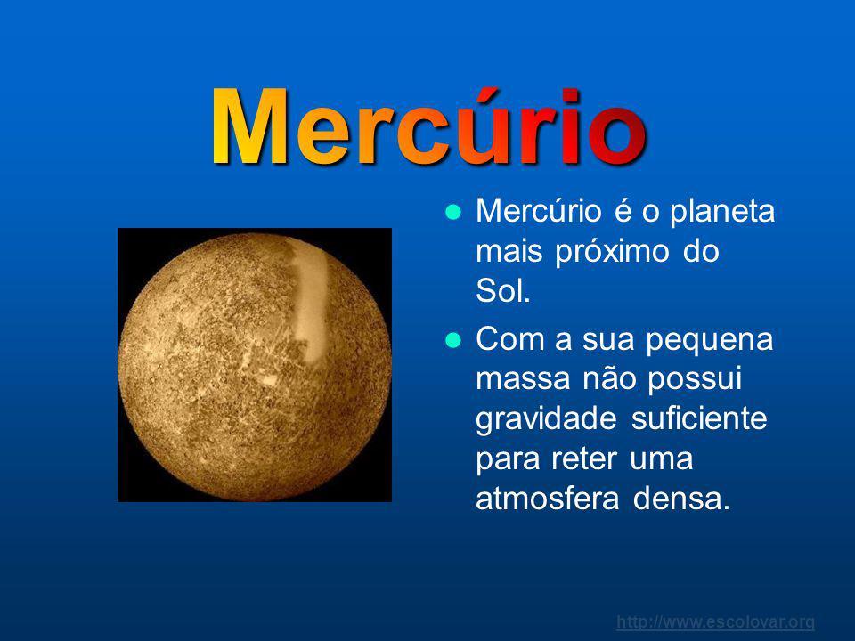 Mercúrio Mercúrio é o planeta mais próximo do Sol.