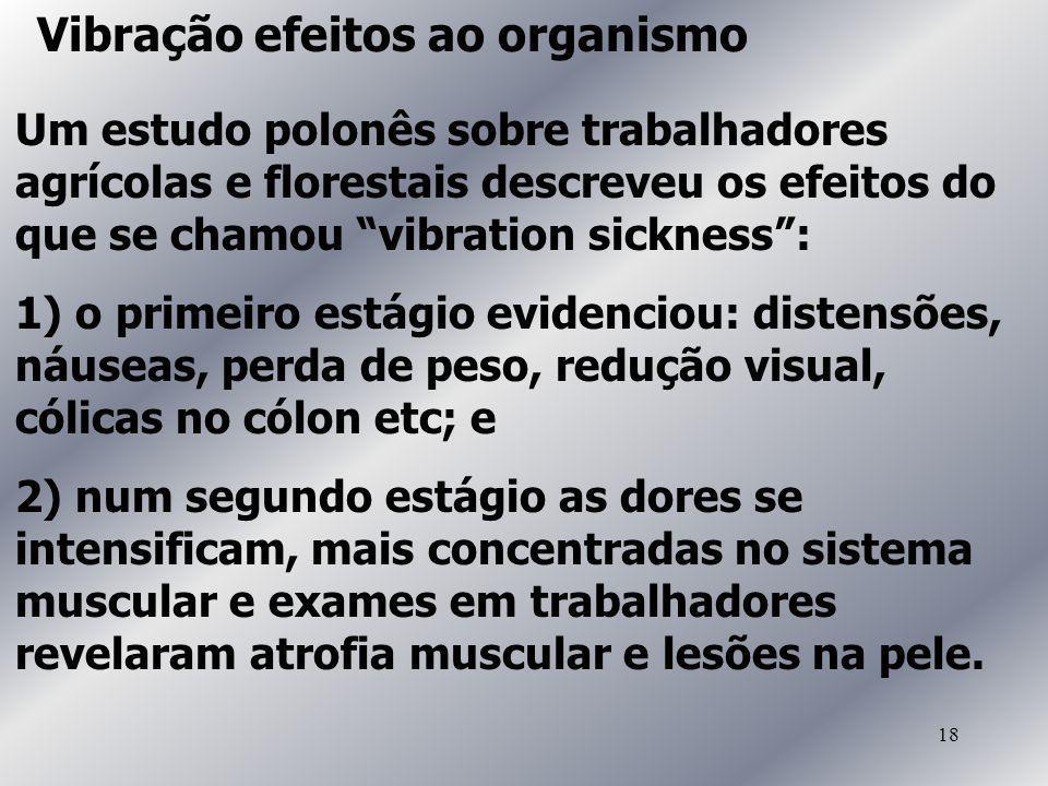 Vibração efeitos ao organismo