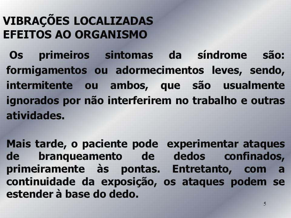 VIBRAÇÕES LOCALIZADAS EFEITOS AO ORGANISMO