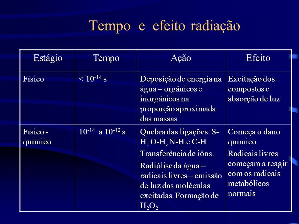 Tempo e efeito radiação