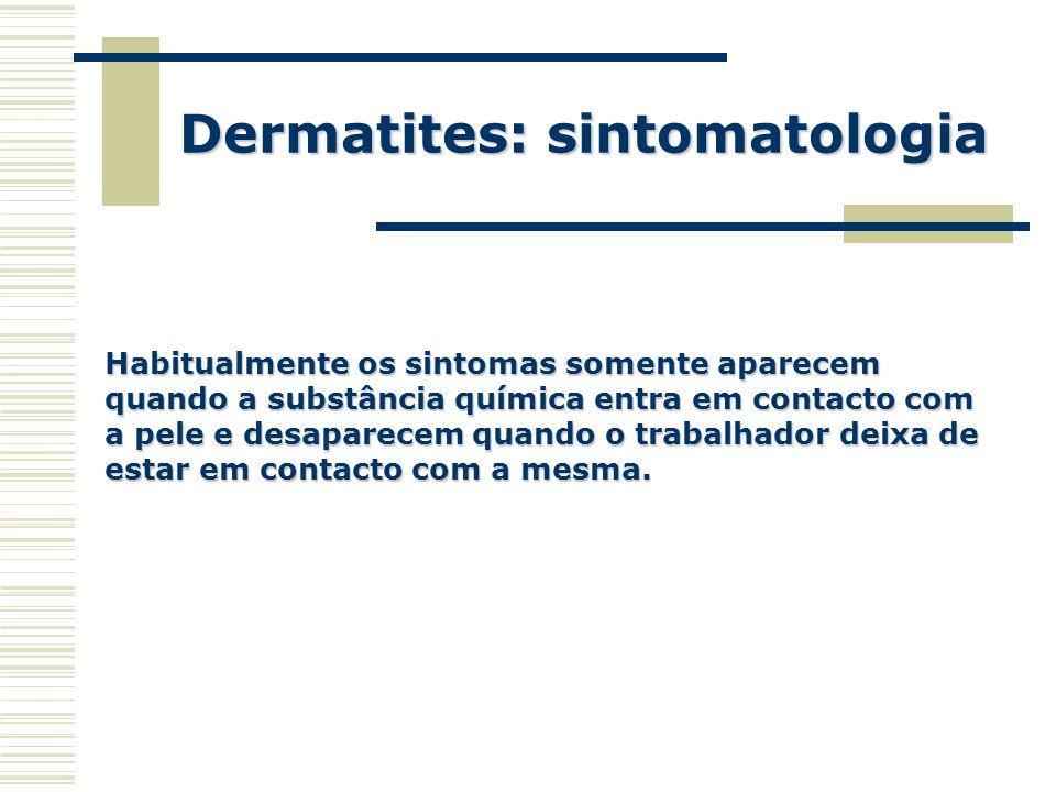 Dermatites: sintomatologia
