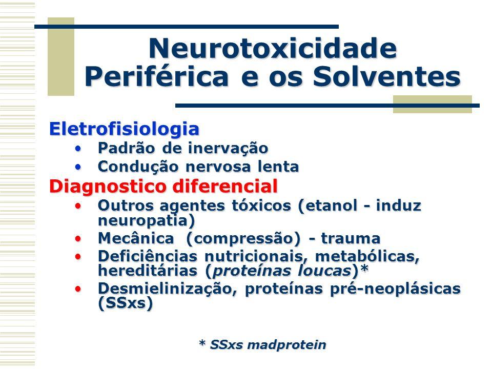 Neurotoxicidade Periférica e os Solventes