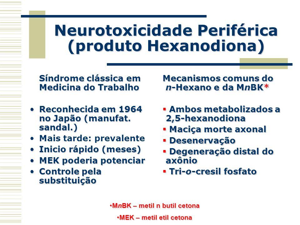 Neurotoxicidade Periférica (produto Hexanodiona)