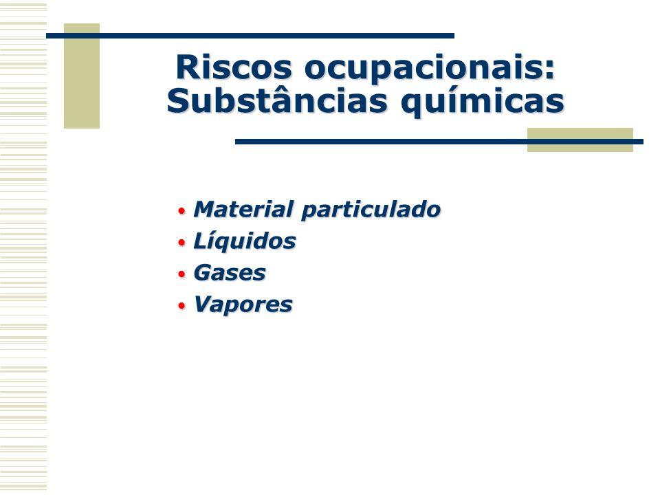 Riscos ocupacionais: Substâncias químicas