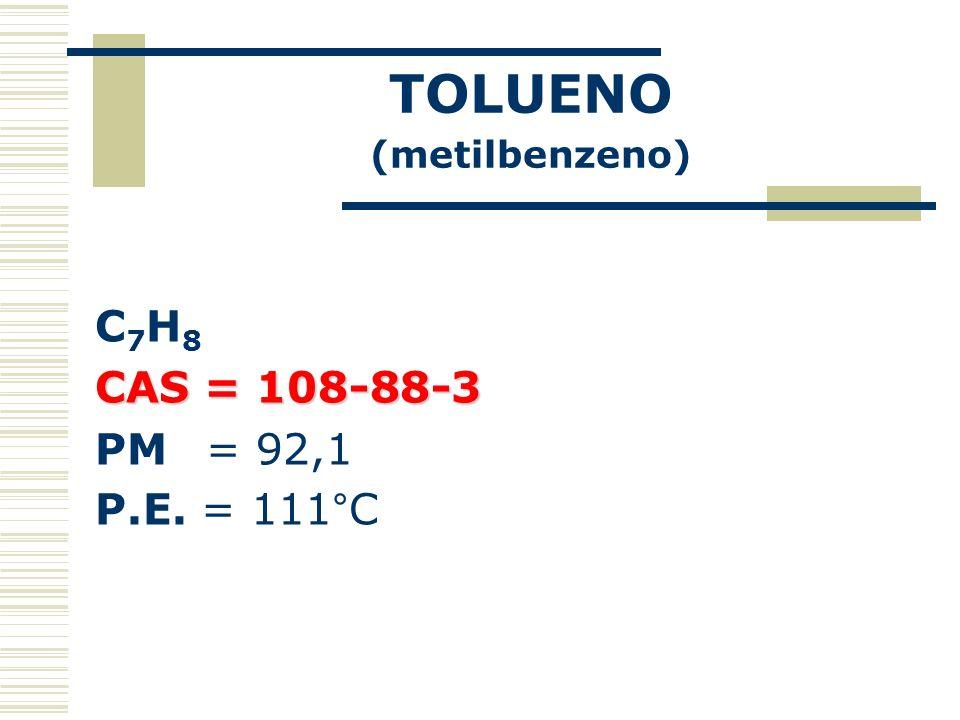 TOLUENO (metilbenzeno)