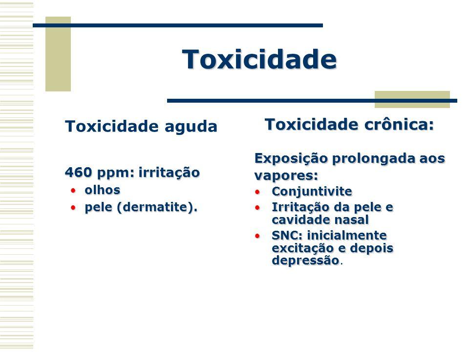 Toxicidade Toxicidade aguda Toxicidade crônica: