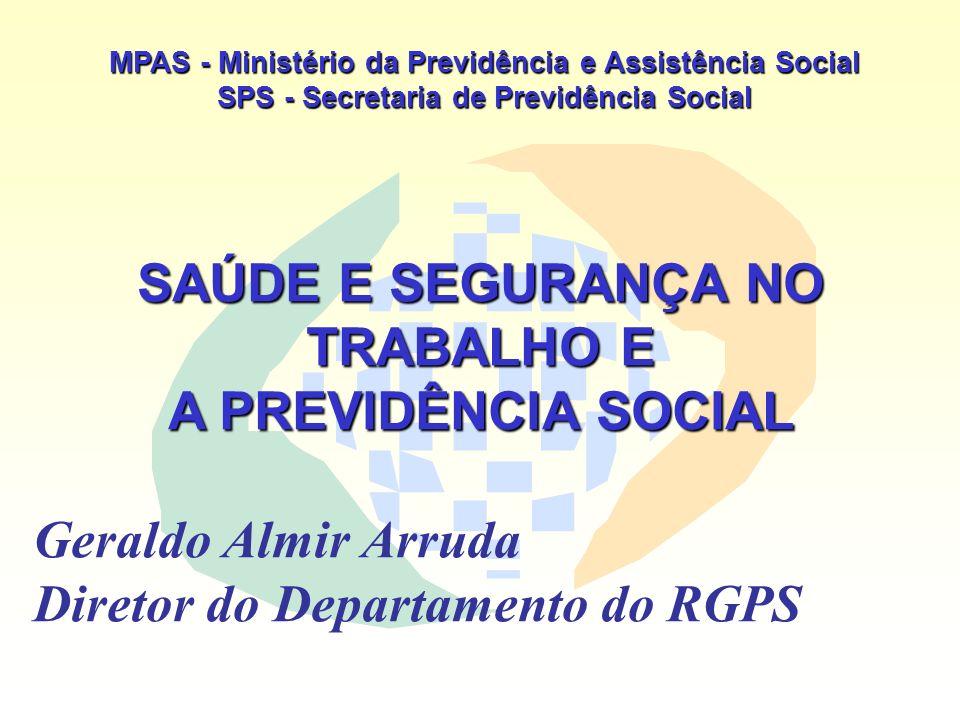 SAÚDE E SEGURANÇA NO TRABALHO E A PREVIDÊNCIA SOCIAL
