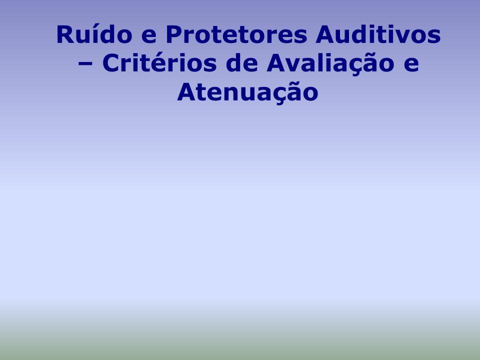 Ruído e Protetores Auditivos – Critérios de Avaliação e Atenuação