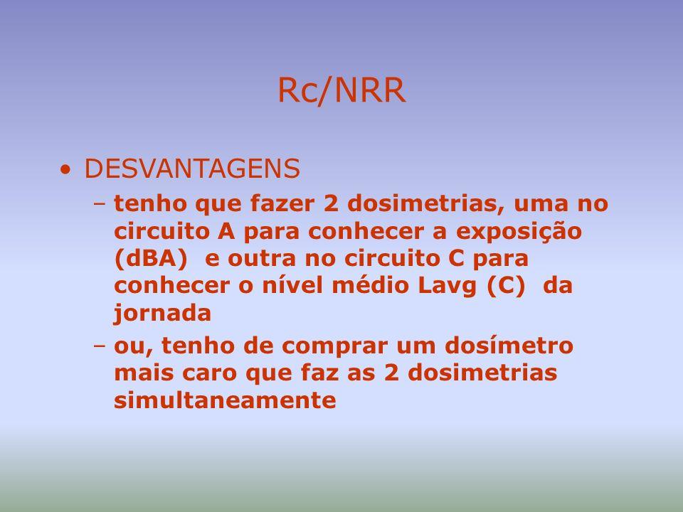 Rc/NRR DESVANTAGENS.