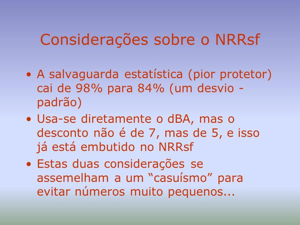 Considerações sobre o NRRsf