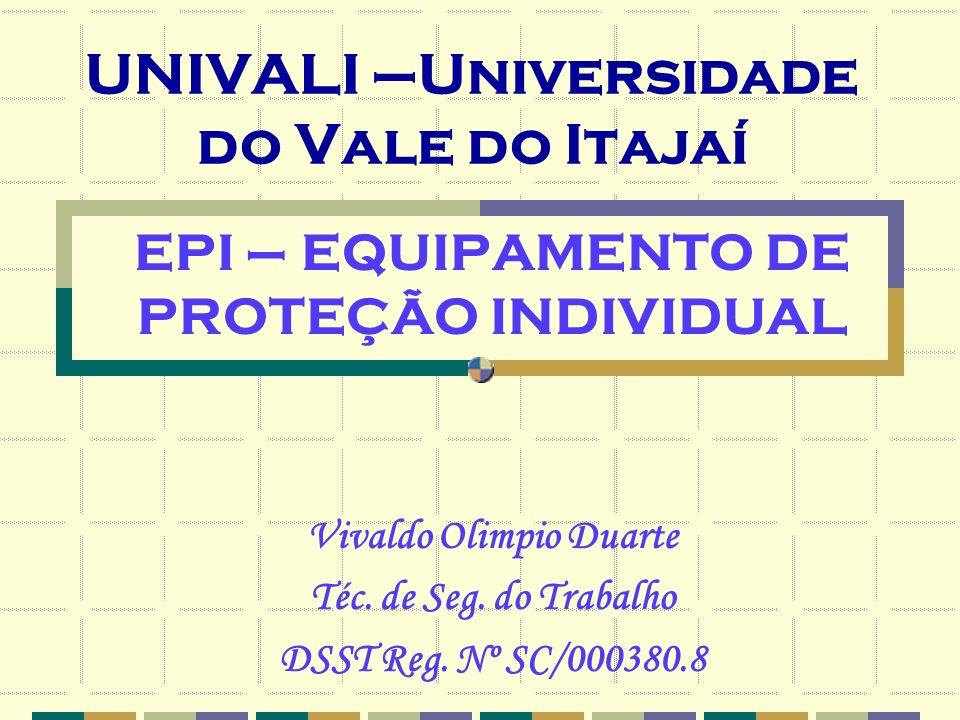 UNIVALI –Universidade do Vale do Itajaí