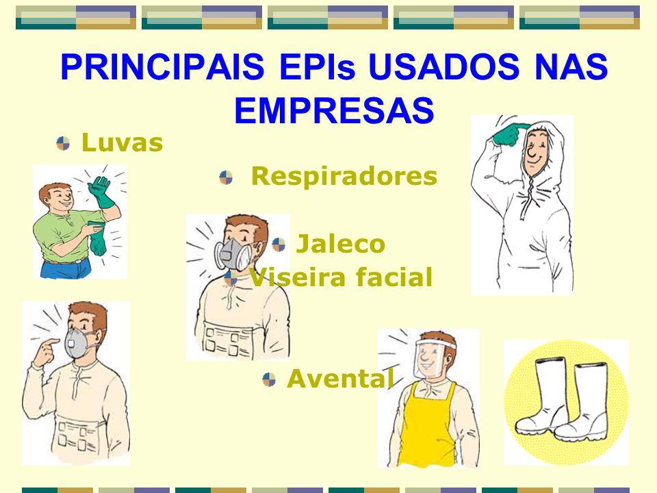PRINCIPAIS EPIs USADOS NAS EMPRESAS