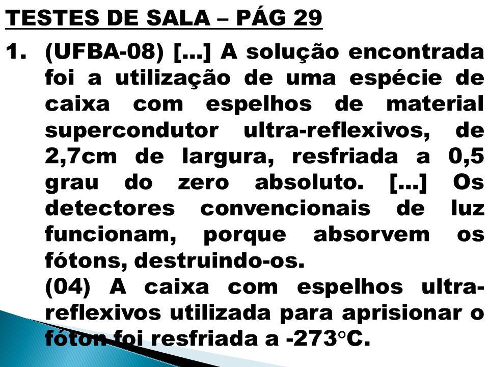 TESTES DE SALA – PÁG 29