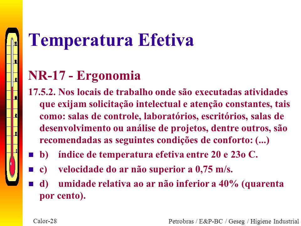 Temperatura Efetiva NR-17 - Ergonomia
