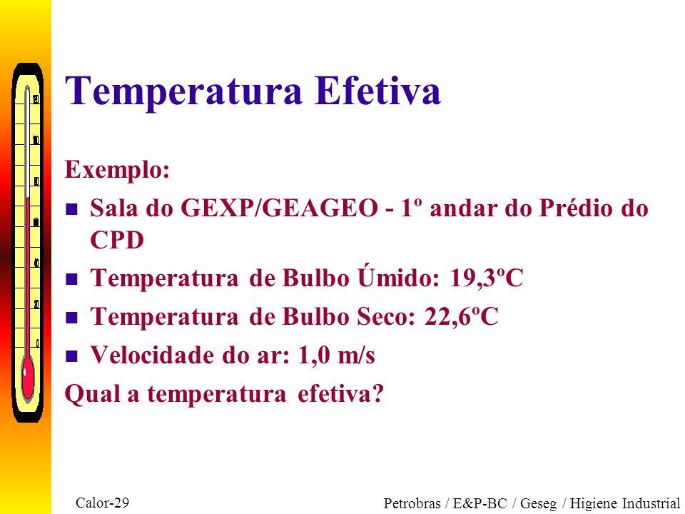Temperatura Efetiva Exemplo: