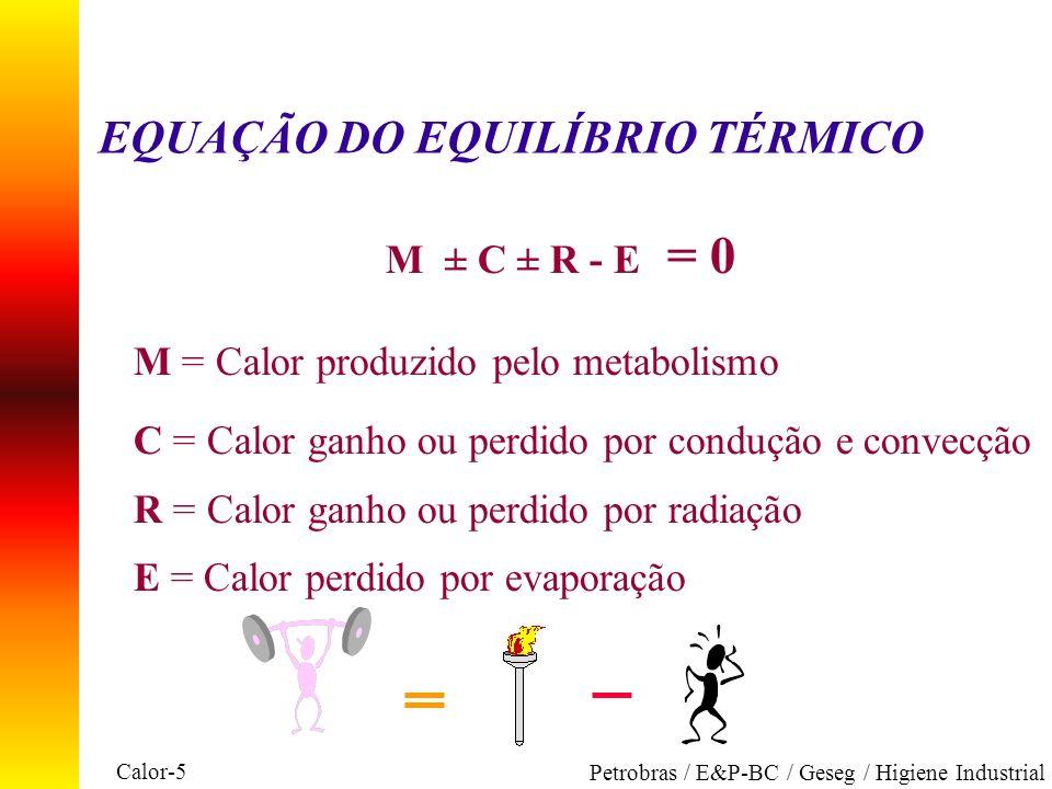 EQUAÇÃO DO EQUILÍBRIO TÉRMICO