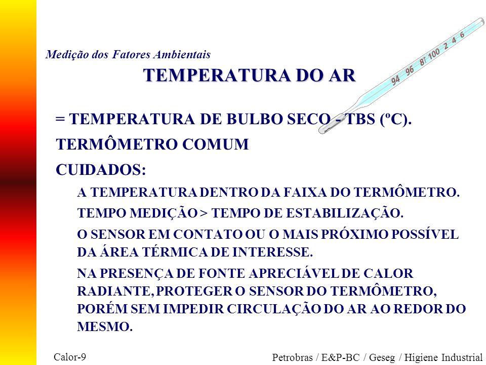 Medição dos Fatores Ambientais TEMPERATURA DO AR
