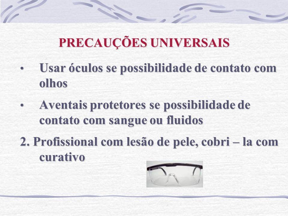 PRECAUÇÕES UNIVERSAIS