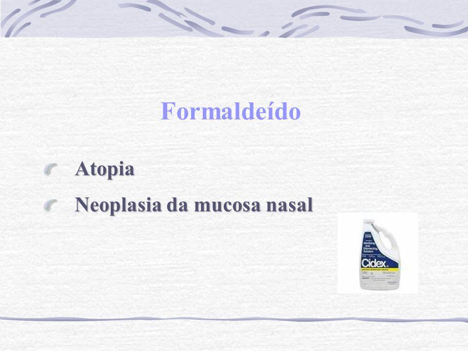 Formaldeído Atopia Neoplasia da mucosa nasal