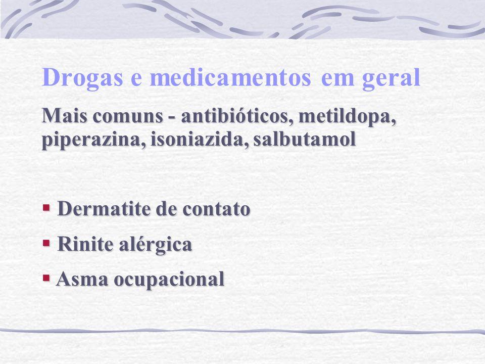 Drogas e medicamentos em geral