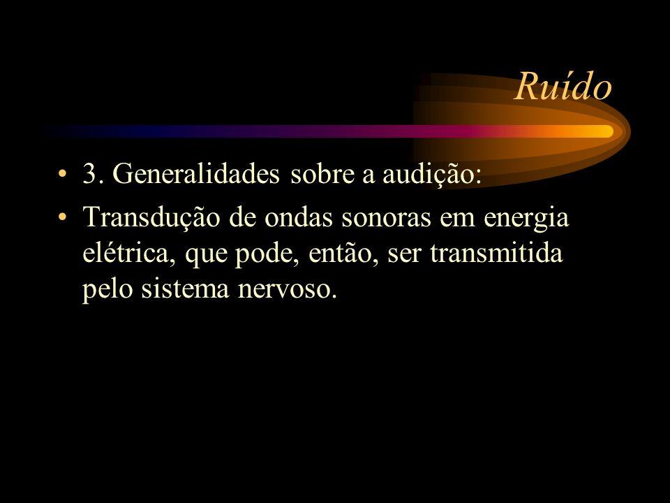 Ruído 3. Generalidades sobre a audição: