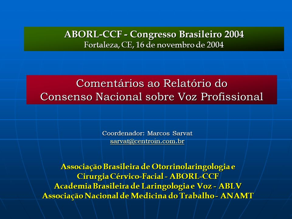 Comentários ao Relatório do Consenso Nacional sobre Voz Profissional