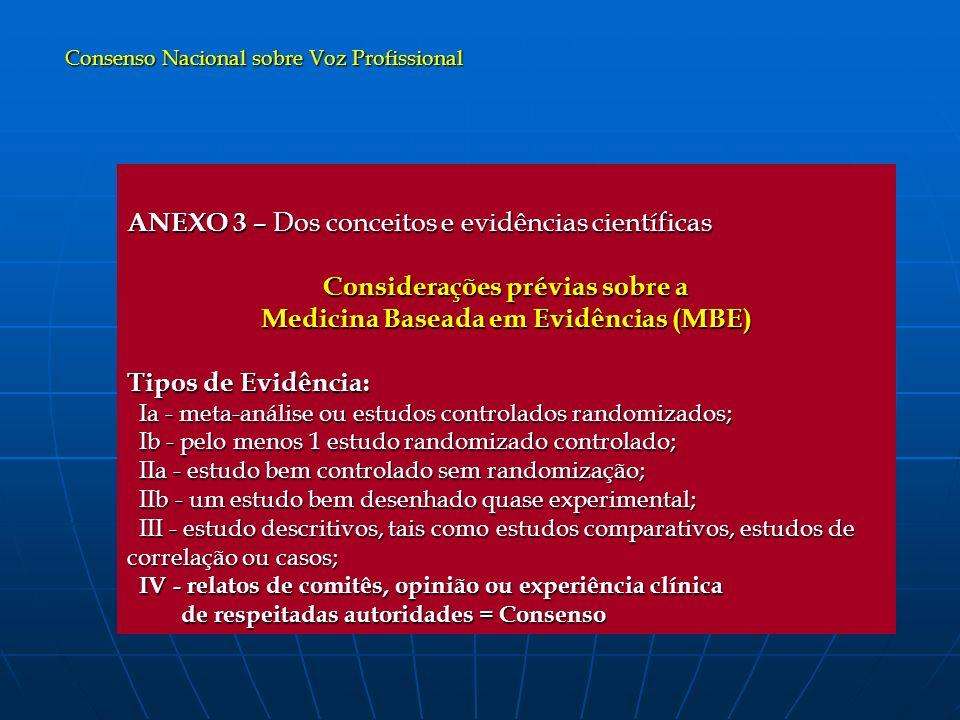 Considerações prévias sobre a Medicina Baseada em Evidências (MBE)