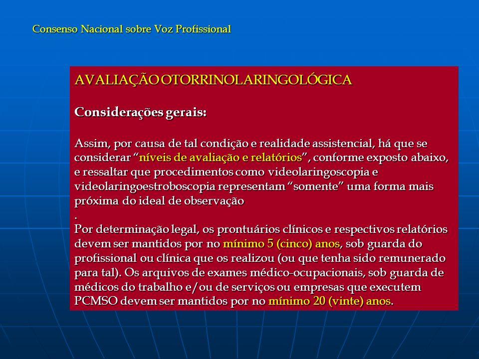 Consenso Nacional sobre Voz Profissional