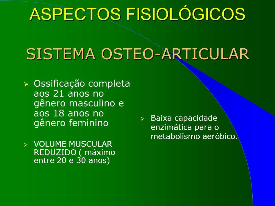 ASPECTOS FISIOLÓGICOS SISTEMA OSTEO-ARTICULAR